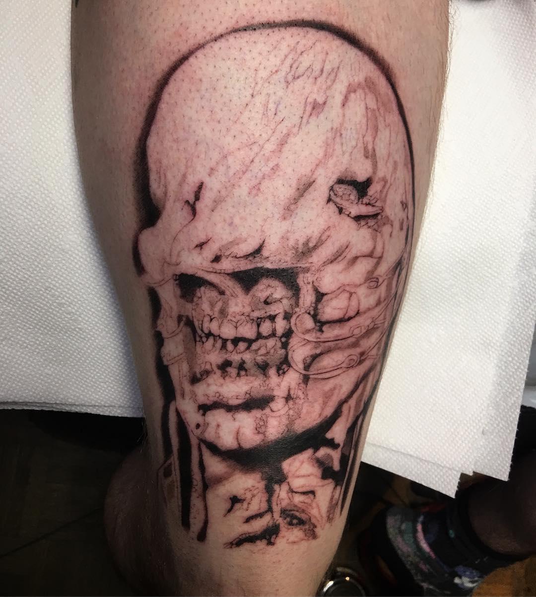 Pre Colour hellraiser chatterer horror macabre legsleeve creepy Hashtags yeghellip