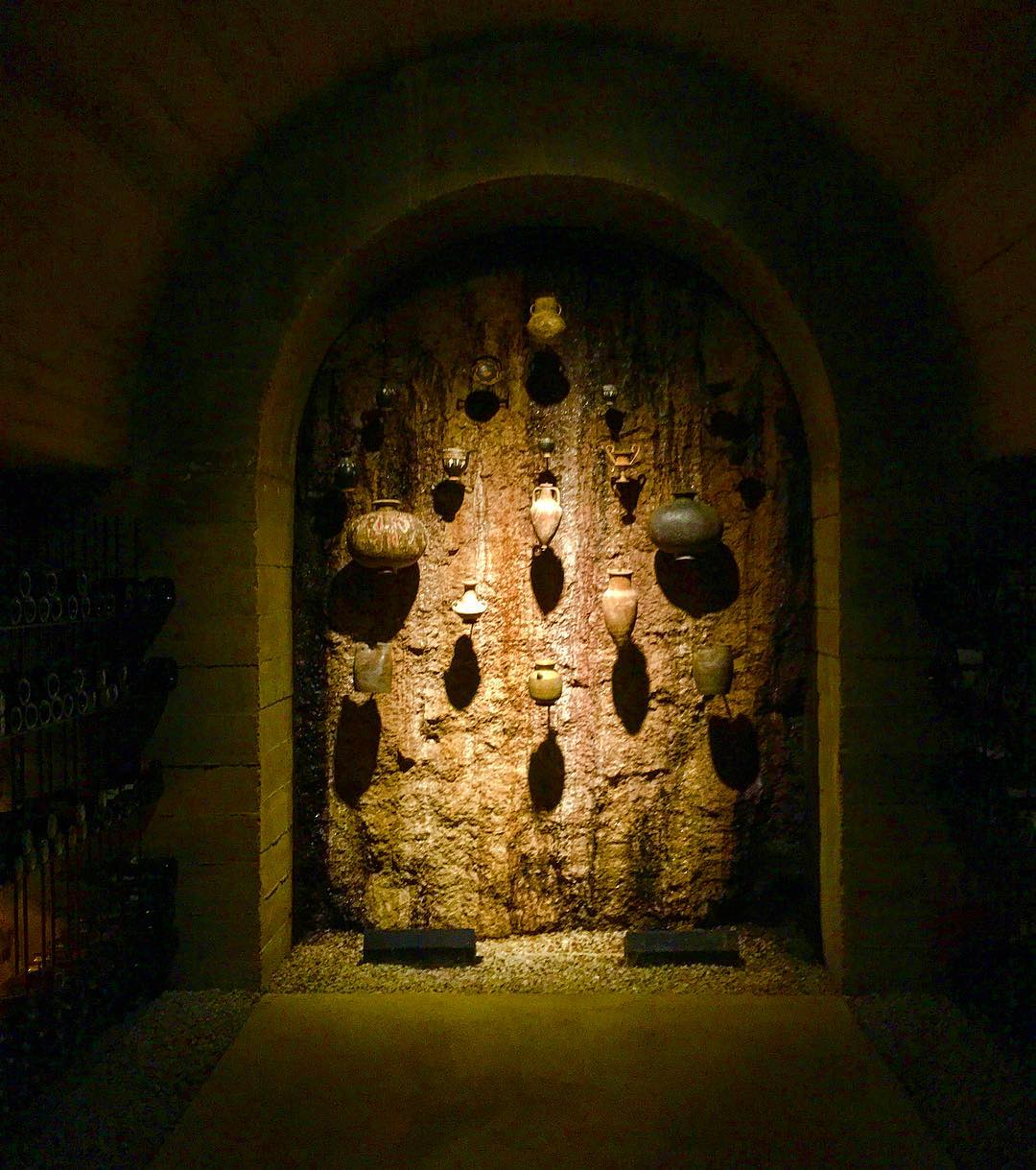 Ancient chalices used for wine stored in the cellar missionhillwineryhellip