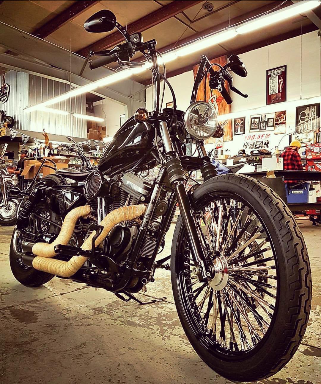 My Partner Harley sportster custom harleydavidson harleysportster sevenbeckham mammothwheels mammothspokehellip