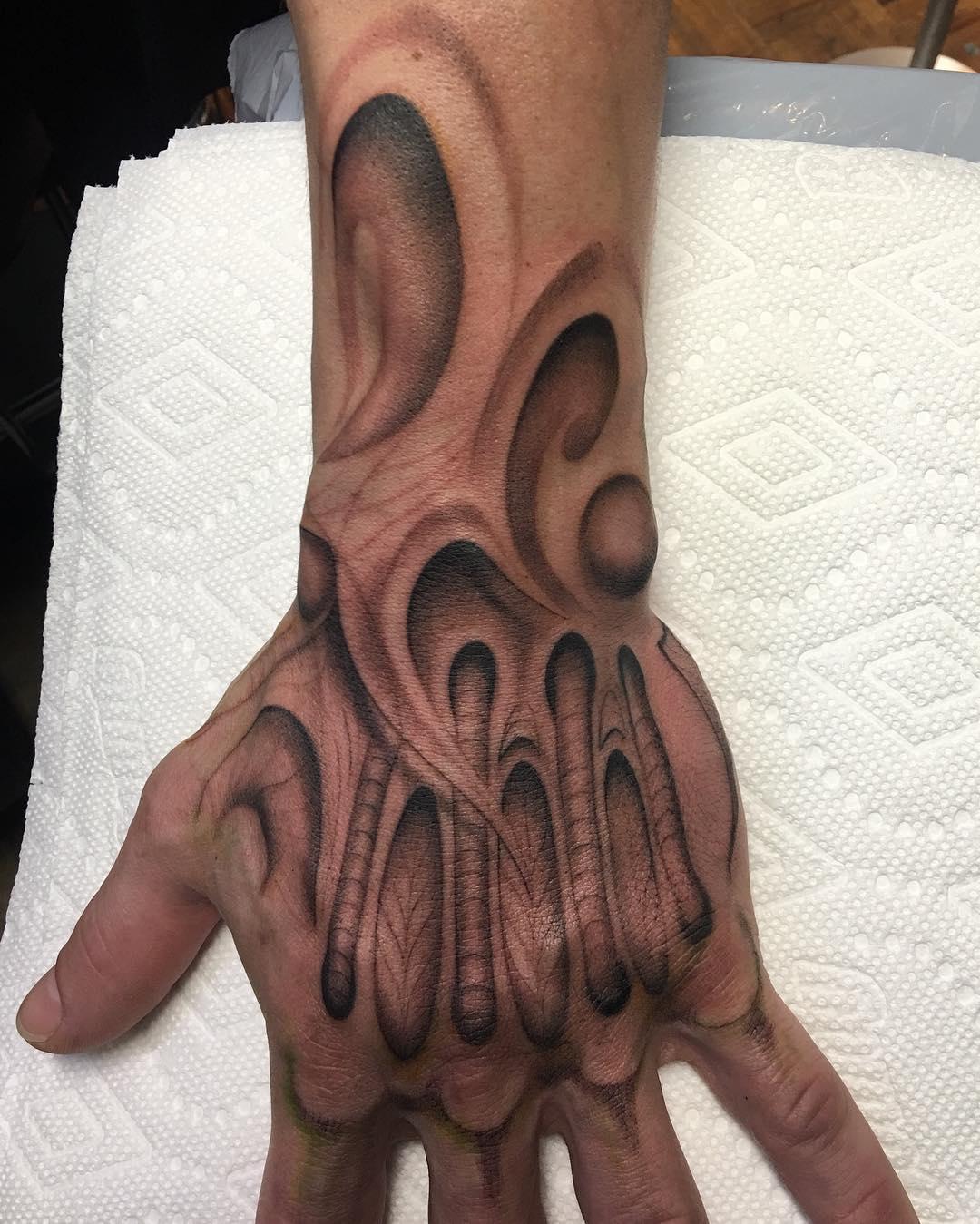 Good start on this  yeg realism sevenbeckham blackandgray tattooartisthellip